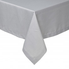 Tokyo Light Gray Stain-Resistant Damask Table Linens | Gracious Style