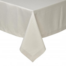 Tokyo Taupe Stain-Resistant Damask Table Linens | Gracious Style