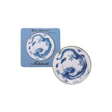 Blue Dragon Picnic Set Of Four Tin Dinner Plates