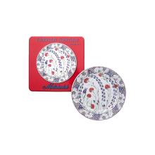 Turkish Garden Picnic Set Of Four Tin Dinner Plates