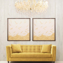 Golden Feathers, Framed | Gracious Style