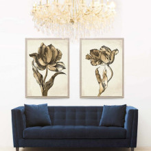 Sieger Tulips Gold Leaf Gilded Hand Leaf | Gracious Style