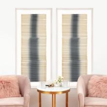 Linear Folded Dreams Grey, Framed | Gracious Style