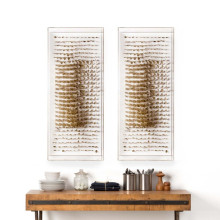 Vertical Golden Feathers, Framed | Gracious Style