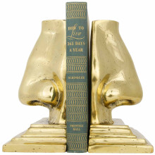 Nose Bookends, Brass | Gracious Style
