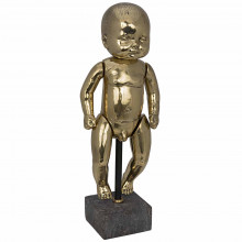 Boy Baby Doll On Stand, Brass | Gracious Style