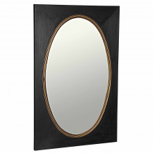 Royal Mirror, Charcoal Black with Gold Trim | Gracious Style