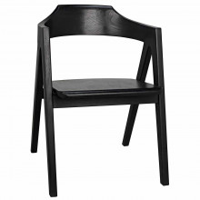 Anan Dining Chair, Charcoal Black | Gracious Style
