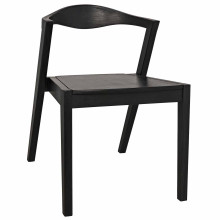 Mara Stacking Dining Chair, Charcoal Black | Gracious Style