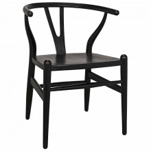 Zola Dining Chair, Charcoal Black | Gracious Style