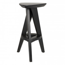 Twist Counter Stool, Charcoal Black | Gracious Style