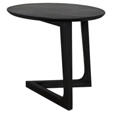 Cantilever Side Table, Charcoal Black | Gracious Style
