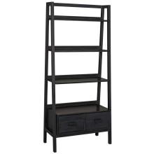 Johnson Bookcase, Charcoal Black | Gracious Style