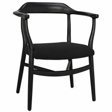 Rey Dining Chair, Charcoal Black | Gracious Style
