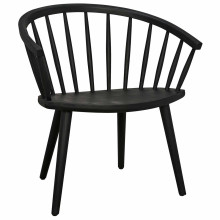 Pauline Dining Chair, Charcoal Black | Gracious Style