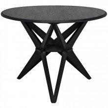 Victor Dining Table, Charcoal Black | Gracious Style