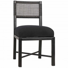 Lobos Dining Chair, Charcoal Black | Gracious Style