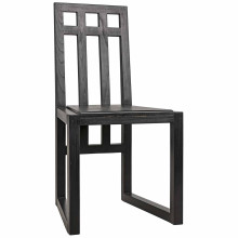 Edge Dining Chair, Charcoal Black | Gracious Style