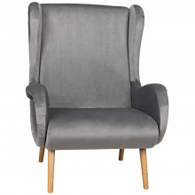 Lola Lounge Chair with Velvet, Natural | Gracious Style