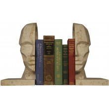 Face Bookend, White Marble | Gracious Style