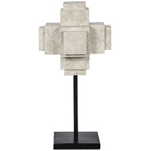 Cube On Stand, White Marble | Gracious Style