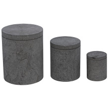 Cylinder Box with Lid, Set of 3, L,M,S | Gracious Style