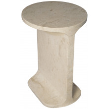 Colmar Side Table, White Marble | Gracious Style