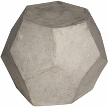Geometry Side Table/Stool, Fiber Cement | Gracious Style