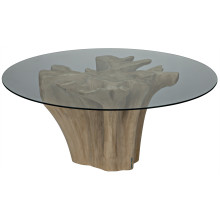 Bonsai Dining Table with Glass Top | Gracious Style