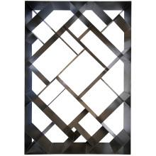 Small Diagonal Bookcase, Metal | Gracious Style