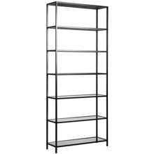 Zhao Bookcase, Metal and Antiqued Mirror | Gracious Style