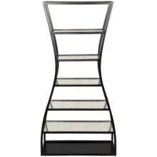 Elma Bookcase, Metal and Antique Mirror | Gracious Style