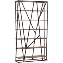 Pole Bookcase, Walnut and Metal | Gracious Style