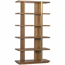 Eastman Bookcase, Dark Walnut and Antique Brass | Gracious Style