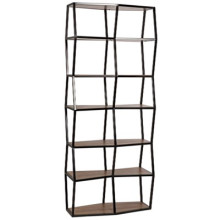 Berlin Bookcase, Walnut and Metal | Gracious Style