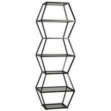 Priam Shelf, Metal and Glass | Gracious Style