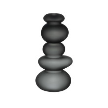 Cairn Sandblasted Smoke Candle Holder | Gracious Style