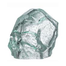 Memento Mori Luminous Green Faceted Skull Large | Gracious Style