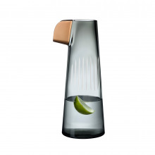 Parrot Smoke & White Line & Copper Beak Carafe | Gracious Style