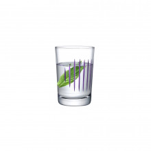 Parrot Clear & Purple Line Tumbler, Set Of 2 | Gracious Style