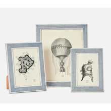 Aberdeen Steel Blue/White Frames | Gracious Style