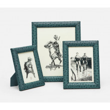 Witney Dark Teal Ostrich Frames | Gracious Style