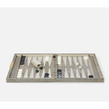 Bailey Brown Candy Striped Backgammon Game Set | Gracious Style
