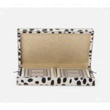 Lesten Dalmatian Print Standard Playing Card Box Hair-On Hide | Gracious Style