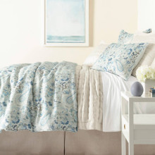 Ines Linen Blue Bedding | Gracious Style