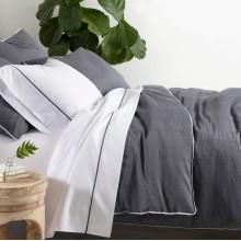 Chambray Grey Bedding | Gracious Style