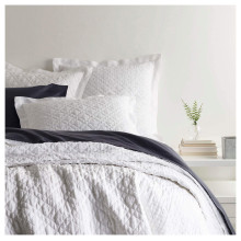 Washed Linen White Bedding | Gracious Style