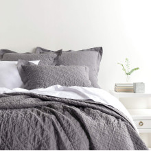 Washed Linen Grey Bedding | Gracious Style