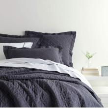 Washed Linen Blue Bedding | Gracious Style