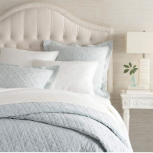 Washed Linen Sky Bedding | Gracious Style